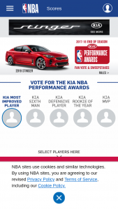 Kia Motors – End Of Season Awards Sweepstakes