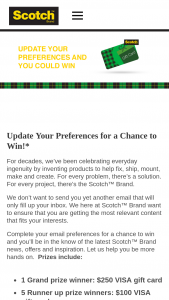 3m Company – Scotch Brand Preference – Win Rewards Card