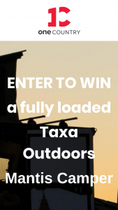 One Country  Taxa – Mantis Camper Giveaway Sweepstakes