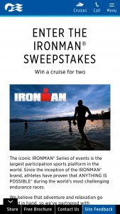 Princess Cruises – Ironman – Win A two thousand five hundred ($2500) US Dollar Princess Cruises gift card