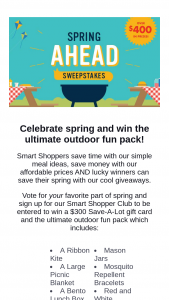 Save-A-Lot – 2018 Spring Sweepstakes