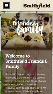 Smithfield – Friends & Family April 2018 – Win an Airbnb gift card valued at $7500 and up to $500 worth of Smithfield products