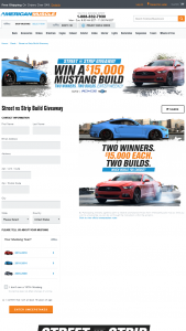 Turn 5 – Street Vs Strip Build Giveaway – Win $15000.00 each in parts from americanmusclecom selected by Sponsor at its sole discretion
