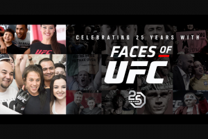 Ufc – Celebrating 25 Years With Faces Of Ufc – Win a trip for two (2) to Denver