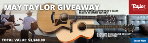 American Musical Supply – Win TWO Taylor guitars valued at $3,948