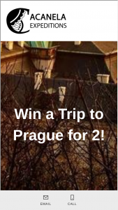 Acanela – Win A Trip To Prague For 2 – Win value of $3000) $750 Airfare voucher 4 nights 5 days Prague Boutique Hotel for two Delicious Breakfast each morning Prague Old Town Tour