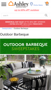 Ashley Homestore – Ashley's Outdoor Barbeque – Win One (1) Outdoor setting from Ashley furniture selected by Sponsor and a XL Big Green Egg with table