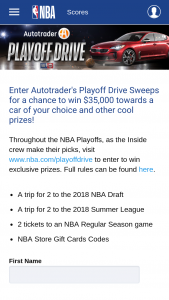 Autotraders Playoff Drive Sweepstakes – Win A$35,000 AutoTrader.com Voucher