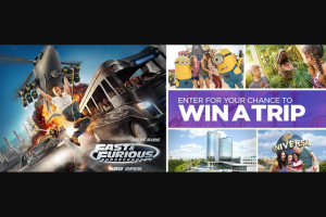 Bravos Universal Orlando Fast  Furious – Supercharged Sweepstakes – Win A4day3night Trip For Four To Orlando, FL To Experience Universal Studios