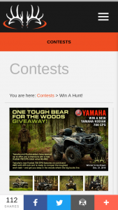 Buckmasters – One Tough Bear For The Woods Giveaway – Win a prize package consisting of One (1) utility ATV Kodiak 700 eps