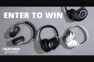 Crutchfield – Bluetooth Noise-Cancelling Headphones Great Gear Giveaway – Win one (1) set of Bowers & Wilkins PX Wireless headphones with an approximate retail value (ARV) of four hundred dollars ($400) each