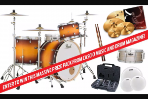 Drum Magazine And Cascio Music – Massive Prize Pack – Win (total value $5243.96) Pearl Decade 3-Piece Satin Amburst Shell Pack 24?