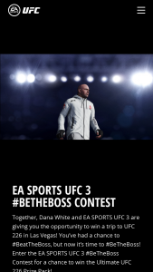 Electronic Arts – Ea Sports Ufc 3 #betheboss Contest – Win UFC 226 in Las Vegas Nevada