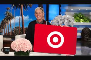Ellen – $1200 Target Gift Card Sweepstakes