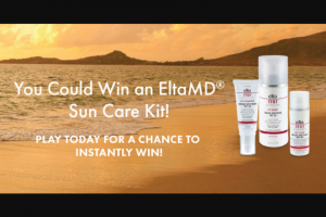 Eltamd – Sun-Safe Instant Win Game – Win $113) The ARV all Instant Win Prizes is $3503.00