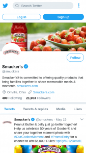 Enter Smucks And GOOBERs 50th Celebration Sweepstakes – Win $5,000 To Enter, Share A Photo On Twitter Or Instagram And Tag It With OurGooberMoment And PromoEntry.