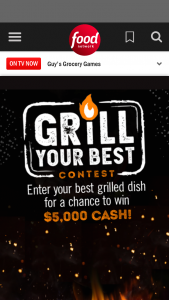 "Food Network – Grill Your Best Contest – Win Prize Winner"") shall win the following (the ""Grand Prize"") $5000 presented in the form of a check"