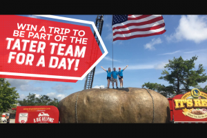 Idaho Potato – Tater Team For A Day Giveaway Sweesptakes Sweepstakes