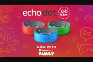 Iheart Media – Iheartradio & Amazon Giveaway – Win one (1) Amazon Echo Dot Kids Edition