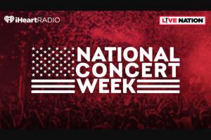 Iheart – National Concert Week Sweepstakes