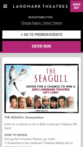 Landmark Theaters – The Seagull Sweepstakes