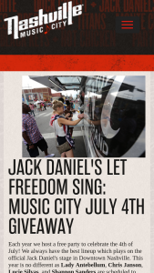 Nashville Convention & Visitors Corp – Let Freedom Ring July 4th In Music City Sweepstakes
