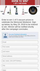 Nebraska Furniture Mart – Memorial Weekend Sweepstakes