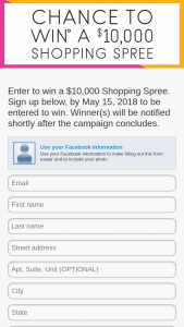 Nebraska Furniture Mart – $10000 Shopping Spree Sweepstakes
