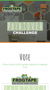 Shurtech Brands – Frogtape Paintover Challenge – Win awarded in the form of Gift Card