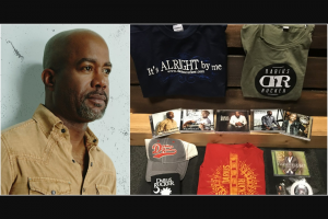 "Sounds Like Nashville – Darius Rucker Prize Pack – Win One (1) ""It's Alright By Me"" t-shirt"