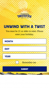 Twisted Tea – Twisted Tailgate Photo Contest – Win a Twisted Tailgate Party involving the Twisted Tea RV with an ARV of $2500