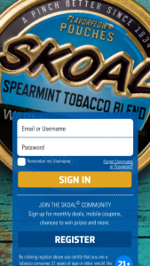Us Smokeless Tobacco Company – Skoal Quest For The Best Instant Win Game – Tobacco Consumers Sweepstakes