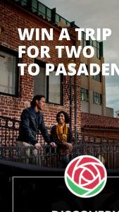 Visit Pasadena – Trip For Two To Pasadena – Win includes two nights lodging activities meals and a gift card for airfare and shopping
