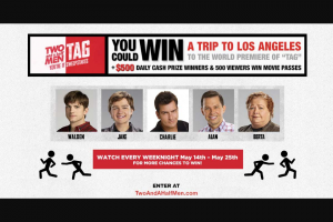 Warner Bros – Two And A Half Men Tag Sweepstakes
