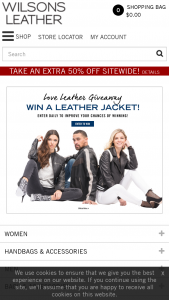 Wilsons Leather – Love Leather Giveaway – Win One (1) Wilsons Leather jacket