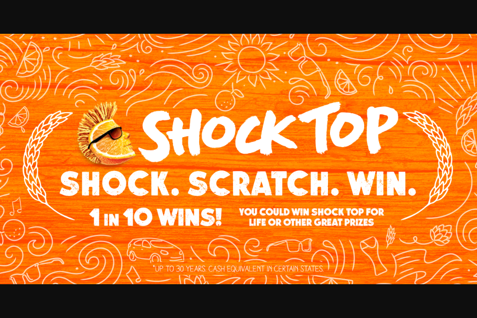 Win Sweepstakes – Win Shock Top Beer For A Year There Are Al