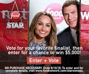 Food Network – Star Fan Favorite Vote – Win a $5,000 check
