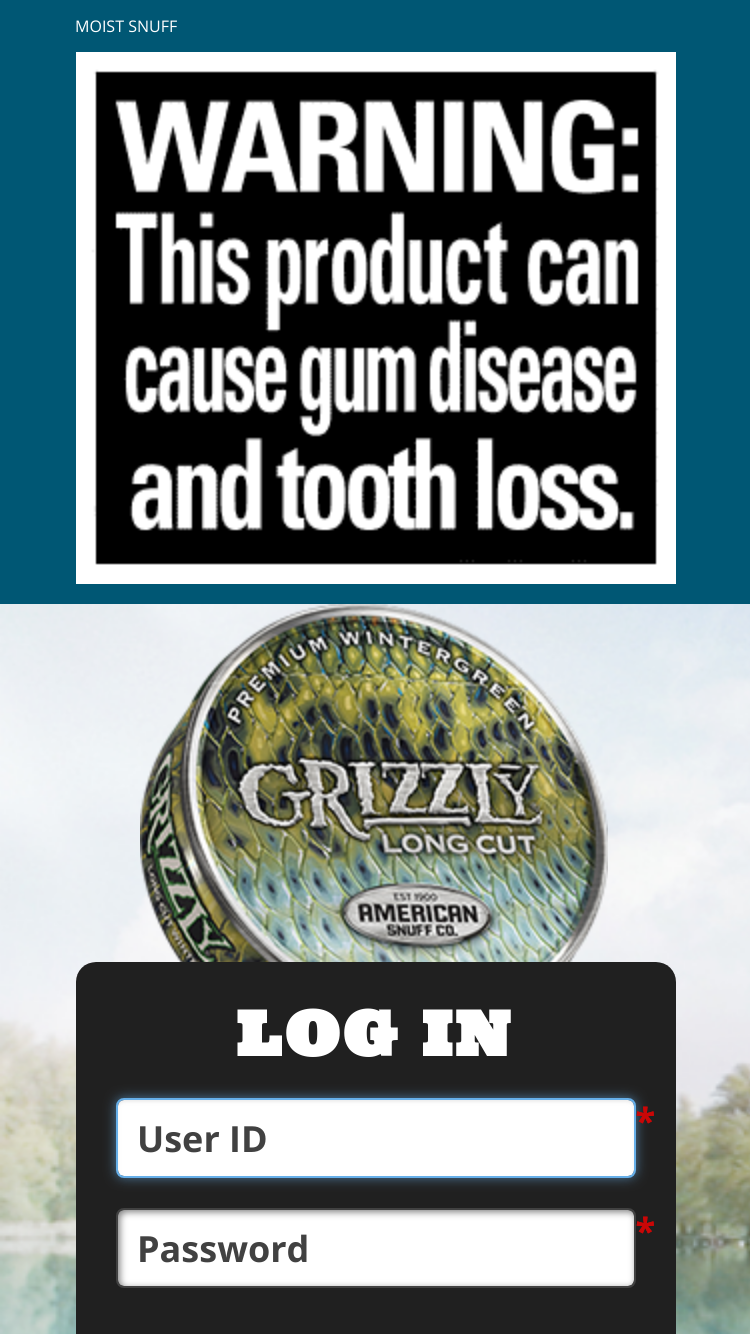 Tobacciana grizzly snuff tobacco fishing can