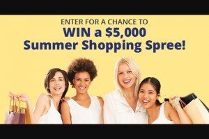 Arm & Hammer – Summer Shopping Spree – Win a check for five thousand dollars ($5000) for a Shopping Spree