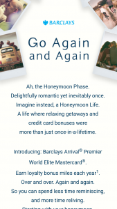 Barclays Arrival Premier World Elite Mastercard Go Again And Again Contest – Win Atrip For Two To Your Original Honeymoon Destination