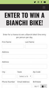Colavita USA – Win A Bianchi Bike – Win a Bianchi bicycle