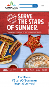 Conagra Brands StarsOfSummer Sweepstakes – Win A$750 Walmart Gift Card