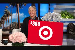 Enter – Win A $300 Target Gift Card From Ellen