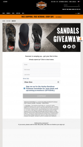 Harley-Davidson Footwear 2018 Summer Sandals Sweepstakes – Win APair Of HarleyDavidson Footwear Sandals