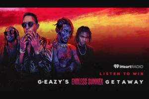Iheart Media – G-Eazy's Endless Summer Getaway – Win a trip two (2) to Mountain View