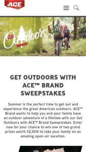 3m Company – Get Outdoors With Ace Brand – Win Form 1099 reflecting the actual retail value