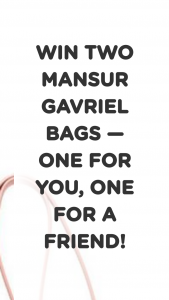 Newsette – Mansur Gavriel Mini Leather Bucket Bag For You And A Friend – Win 2 mini leather Mansur Gavriel bucket bags — one for themselves
