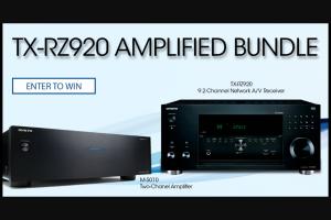 Onkyo – Tx-Rz920 Amplified Bundle Giveaway – Win [one TX-RZ920 Amplified Bundle M-5010 & TX-RZ920] ARV $1523.