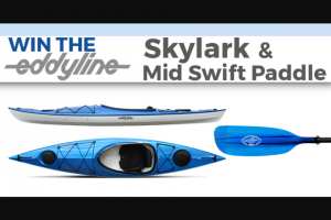 Paddlingcom – Eddyline – Win the Eddyline Skylark (Sapphire Blue) and an Eddyline MidSwift Paddle (Amber 230cm).