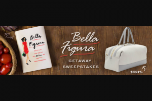 Penguin Random House – Bella Figura Getaway – Win 1 Copy of Bella Figura (Prize Approximate Retail Value $26.95) 1 Globe Trotter Propellor Overnight Bag in Clay (Prize Approximate Retail Value $1900.00)
